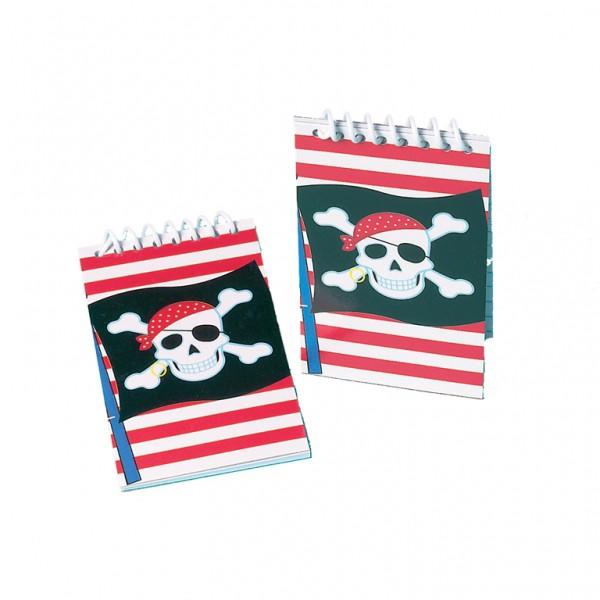 """[Klicken um das Bild zu schließen. Klicken und ziehen zum verschieben. Pfeiltasten für vor und zurück.]  Mini Ringel-Block """"Piraten-Party"""" 12er Pack"""