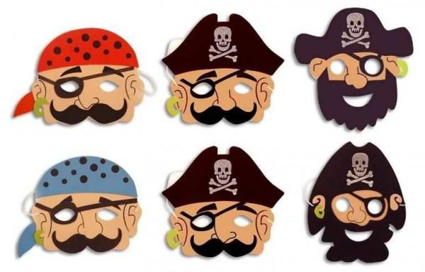 Piratenmasken Aus Moosgummi Mitgebsel Fur Piratengeburtstag