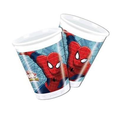 Ultimate Spiderman – Partybecher im 8er Pack, 200ml, Web Warriors