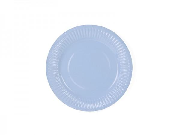 Kleine Pappteller - pastellblau - 6 Stück