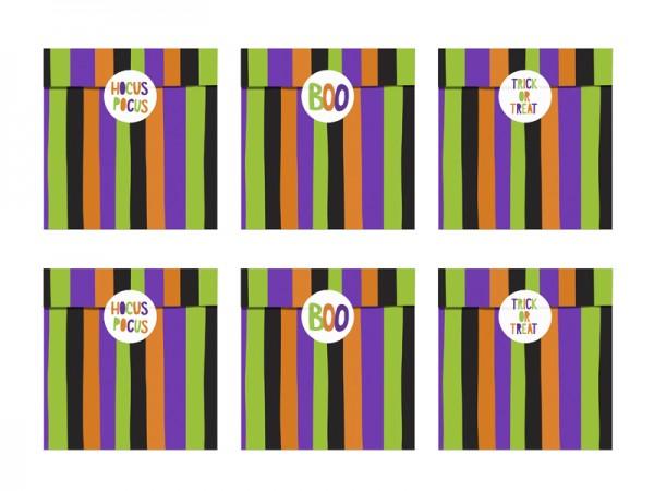 """Papiertüten mit Stickern """"Hocus Pocus"""" - 6 Stück"""