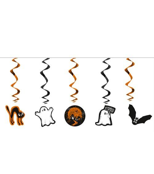"Spiralgirlanden ""Happy Halloween"" - Boo - 5 Stück"