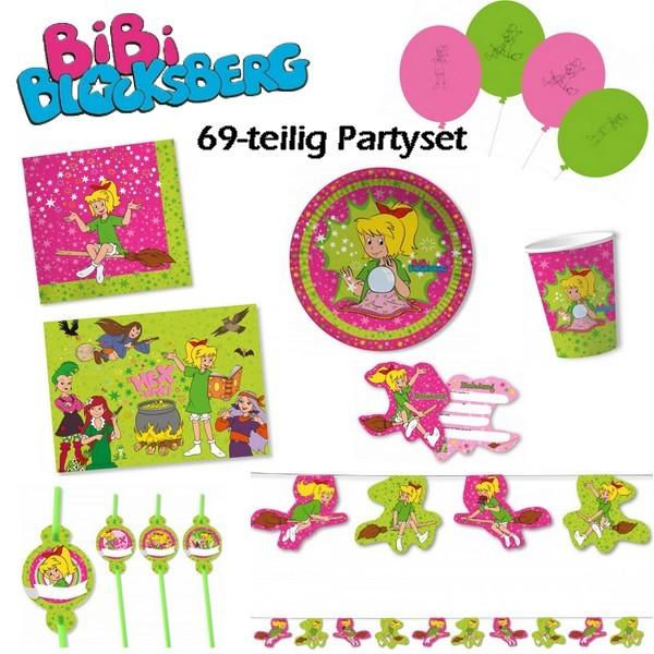 """Partyset """"Bibi Blocksberg"""" 69-teilig für 8 Personen"""