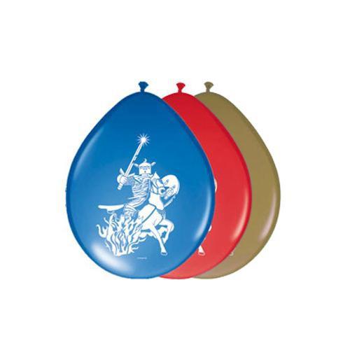 Luftballons -Silberner Ritter- 8er Pack