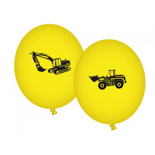 "Luftballons ""Baustelle"" 8er Pack  - Bagger, Radlader Ballons online kaufen"