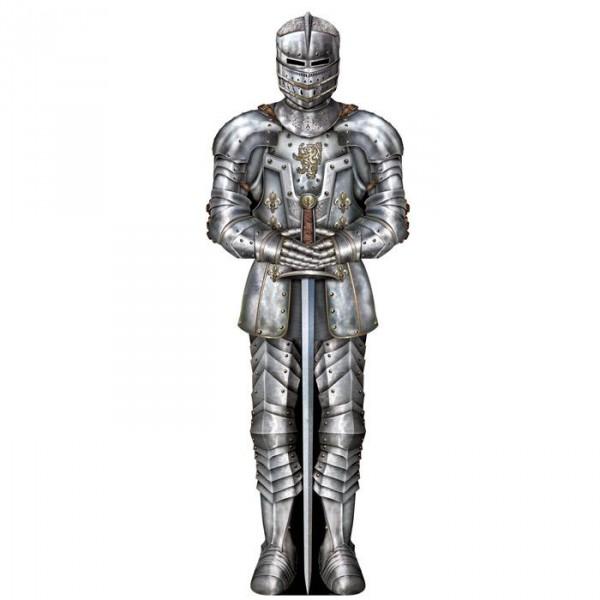 Wanddeko Ritterrüstung, Edler Ritter 90 cm aus Pappe ✔ Ritterparty Dekoration