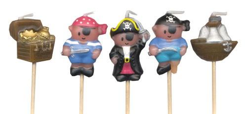 Minikerzen für Piratenkuchen, Piratenmuffins, Piraten-Cupcakes | Kindergeburtstag feiern als Pirat oder Seeräuber