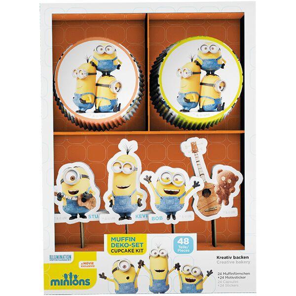 """Muffindeko-Set """"Minions"""" 48-teilig- Muffindeko für Minions Partys"""