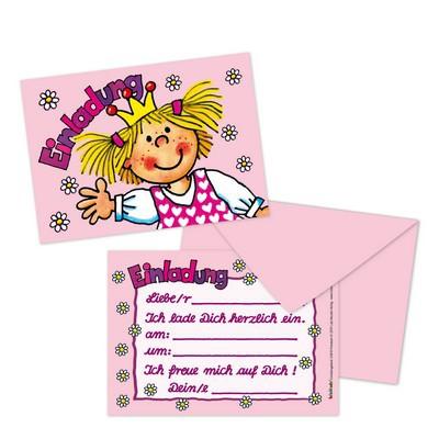 """Einladungskarten Prinzessin """"Miabella"""" 8 Stück von Lutz Mauder für Kindergeburtstage"""