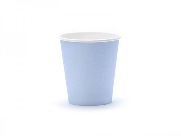 Kleine Pappbecher - pastellblau- 6 Stück