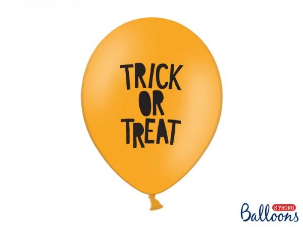 "Luftballons ""Trick or Treat"" - orange - 30 cm - 50 Stück"