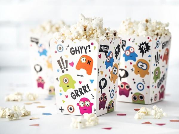 "Popcorn-Boxen ""Monster-Party"" - 6 Stück"