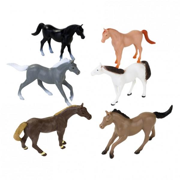 12 Pferdefiguren aus Kunststoff